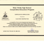 Holy Trinity High School Cooperative Education Program
